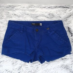 Royal blue jean shorts
